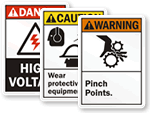 All ANSI Safety Signs