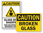 Broken Glass Signs