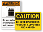 Cap Cylinder Signs