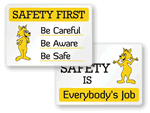 Cartoon Safety Signs