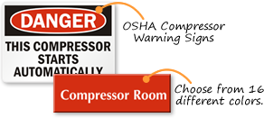 Compressor Room Signs