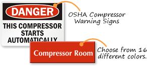 Compressor Room Signs