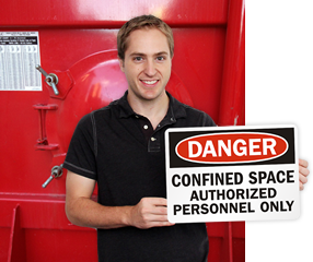 Confined Space Entry Signs