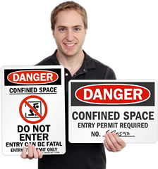 Confined Space Signs & Permit Required Signs