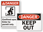 Danger Safety Signs