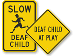 Deaf Child signs