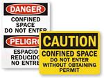 Confined Space Authorized Personnel Signs