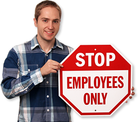 Employee Signs | Visitor Signs