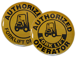 Forklift Certification Buttons