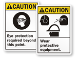 Graphic PPE Signs