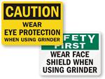 Grinder Safety Signs