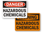Hazardous Chemicals Signs