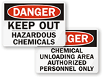Keep Out – Hazardous Chemicals Signs