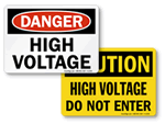 High Voltage Warning Signs