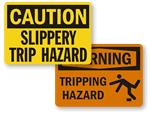 Slip and Trip Warning Signs