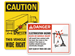 Truck Safety Signs