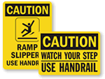 Use Handrail Signs