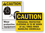 Wear PPE When Handling Chemicals