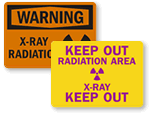 X-Ray Radiation Warning Signs