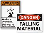 Falling Material Signs