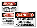 Flammable Material No Smoking