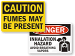 Hazardous Fumes Signs