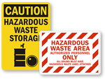Hazardous Waste Storage Signs