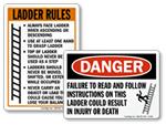 Ladder Safety Signs