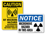 Microwave Warning Signs and Labels