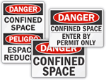 Confined Space Enter By Permit Only Signs