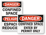 Confined Space Signs