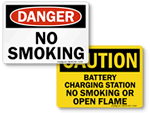 No Smoking Chemical Signs