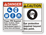 Danger PPE Signs