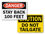 Stay Back Signs