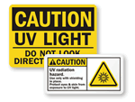 UV Light Warnings