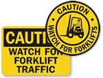 Warning Forklift Signs