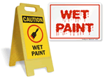 Wet Paint Signs and Tags