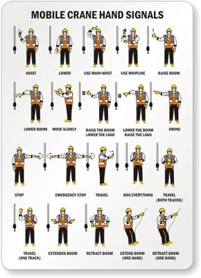 Banksman hand signals