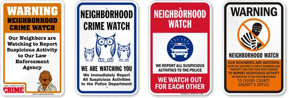 Neighborhood watch sign
