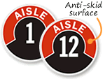 Aisle ID Floor Signs & Labels