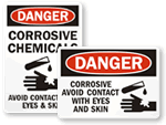 Avoid Contact With Eyes And Skin Signs