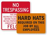 Big Construction Signs