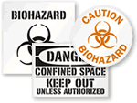 Custom Biohazard Floor Signs