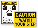 Caution Safety Signs