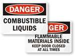 Combustible Liquid and Dust Signs