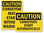 Conveyor Warning Signs