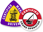 Crane Operator Stickers