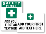 Custom First Aid Signs