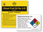 Diesel Fuel Oil Labels