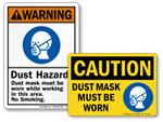 Dust Mask Signs